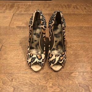Sam Edelman Leopard Rhinestone Heels